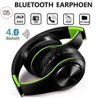 Bluetooth4.0 Foldable Stereo Wireless Headphone Bass Headset Microphone Support TF Card FM Radio MP3 Player For Phone PC PAD