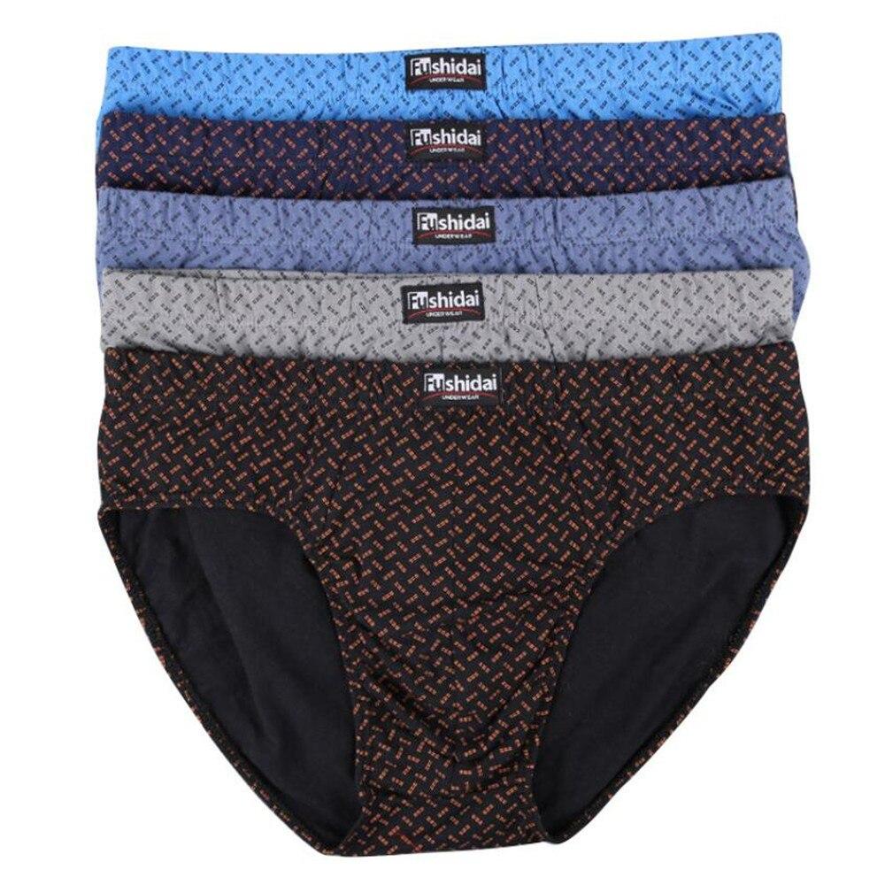 Men's Underwear Briefs shorts Comfortable 100%Cotton Print  Men Brief  Sexy Plus Size Underwear  Lot   L~ 5XL