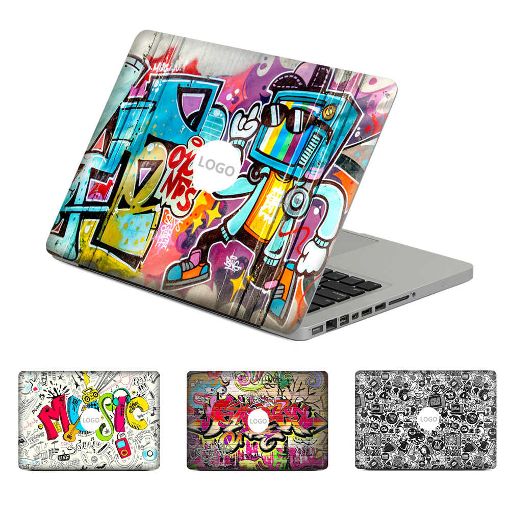 "Graffiti style Laptop Decal Sticker Kulit Untuk MacBook Air Pro Retina 11 ""13"" 15 ""Vinyl Mac Kasus Tubuh Penuh Cover Kulit"