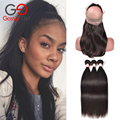 Malaysian Straight Hair 360 Lace Frontal With Bundle 7A 3 Bundles With Closure Soft Human Hair Bundles With Frontal Gossip Girl