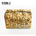 Women Cosmetic Bags 2016 Bling Golden Color Lady's Makeup Bag Toiletry Case Women Travel Make up Beauty organizador for Girls