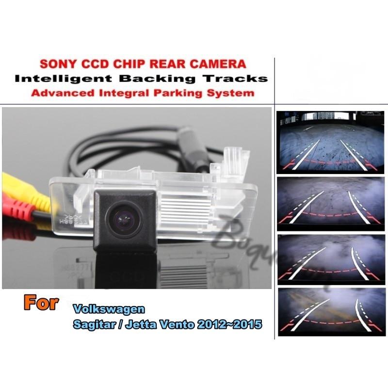 For Volkswagen VW Sagitar Jetta Vento 2012 2015 Smart Tracks Chip Camera HD CCD Dynamic Tragectory