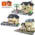 Bloques de construcción de wange súper gran jardín villa compatible con legoe muñeca de la casa de construcción ladrillos juguetes aprendizaje educativo