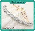"75% OFF white zircon  Classy Hermosa Sterling Silver Bracelet 7"""