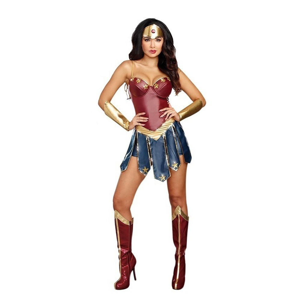 New Wonder Woman Cosplay costumes Adult Dawn Of Justice Superhero Costume for Halloween Fancy Dress Princess Diana cosplay