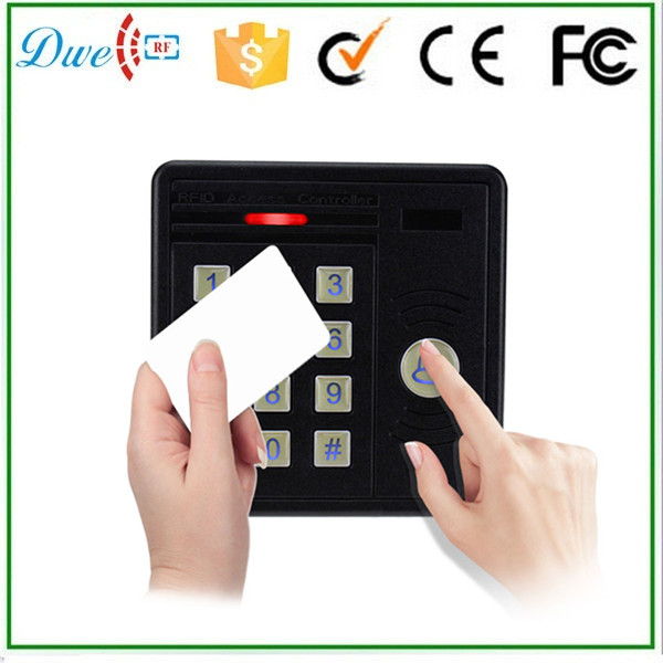 DWE CC RF Free shipping 125khz passive keypad rfid card reader wiegand 26 bits anti rain for access control system dwe cc rf 13 56 mhz outdoor rfid card reader for access control system wiegand 26 free shipping