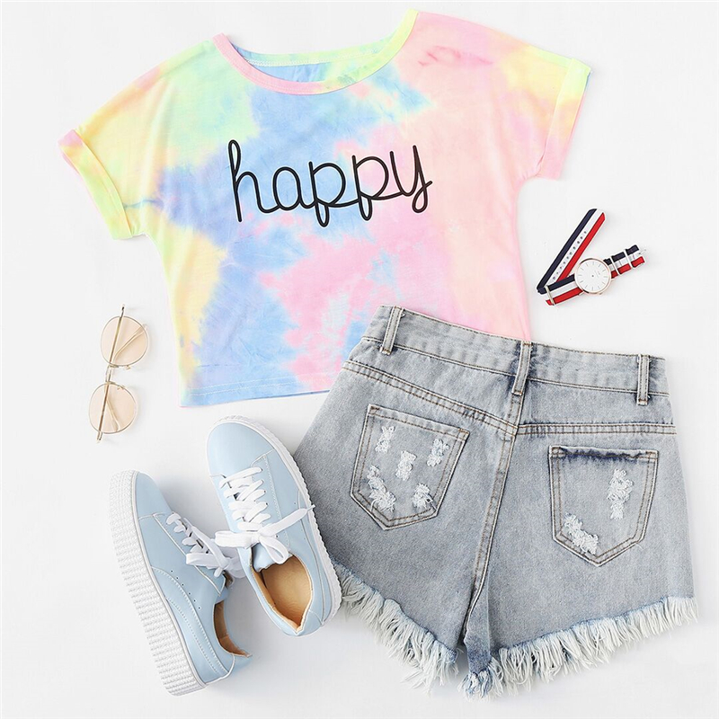 Happy Tees Rainbow Happy T-Shirt