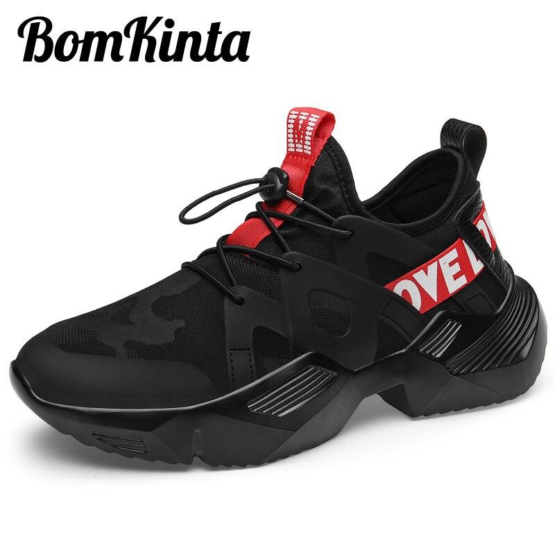 Sneakers Men Vulcanized-Shoes Anti-Slip Black White New Upper Red Lycra Zapatillas Trendy