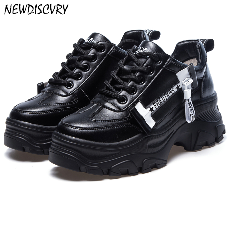 Fashion Chunky Sneakers Women 2019 Spring Platform Women s Sneaker Comfortable Woman Trainers Thick Soled Ladies