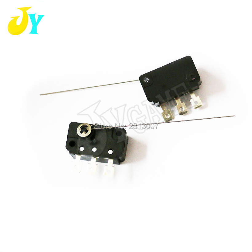 2pcs/lot Three-legged needle micro switch Arcade games cabinet Mechanical Coin acceptor Micro switch old fashioned coin switch(China)