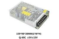 high efficiency Q 60C Q Series Quad Output switch power supply 5v15v 5V 15V dc power supply with CE certification