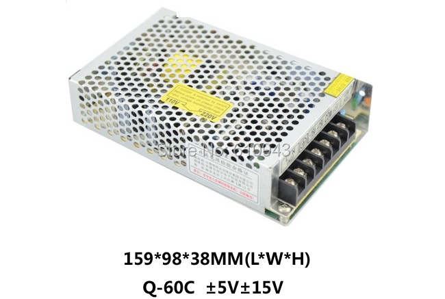 high efficiency Q-60C Q Series Quad Output switch power supply 5v15v -5V -15V dc power supply with CE certification ce approved oem 500w 15v dc power supply high efficiency transformer 15v 32a china supplier
