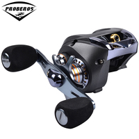 1PC Top Quality Fishing Reel Black Color Lure Reel 8 Ball Bearings 217g Right and Left Hand Water Drop Wheel