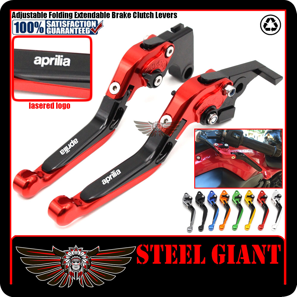 For Aprilia Dorsoduro Caponord 1200 RSV Mille R Falco SL1000 Motorbike Foldable Lever CNC Folding Extending Brake Clutch Levers