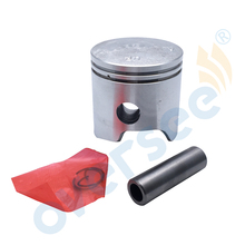 6E7 11635 00 00 Piston Set 56mm 0 25mm Case For Yamaha 9 9HP 15HP Outboard