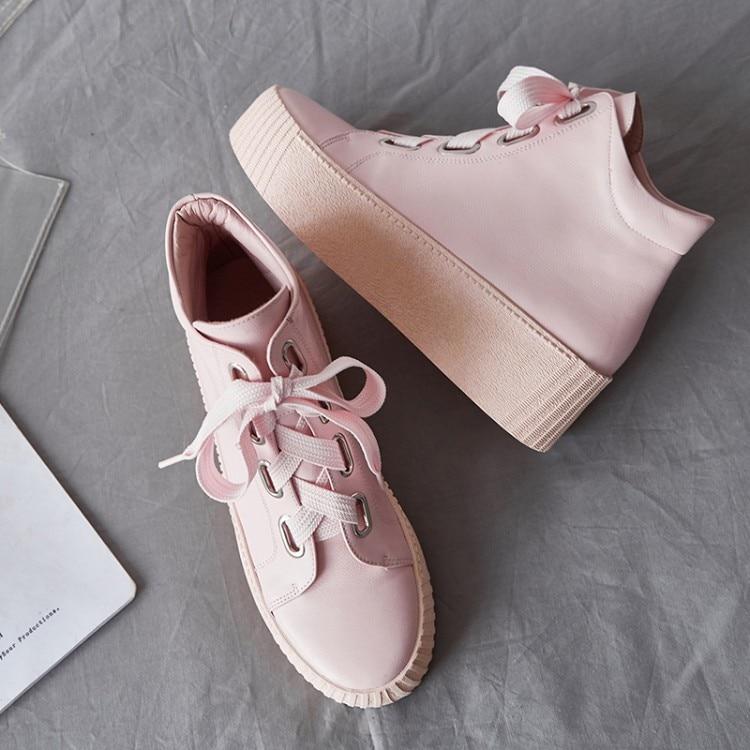 {zorssar} La Plataforma Negro Invierno Genuino Martin E 2018 Tacón De Moda Mujer Tobillo rosado Botas Del Alto blanco Cuero Otoño Zapatos Mujeres Las UrTURxwq