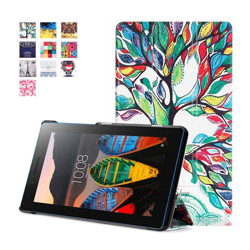 2016 New Ultra Slim Smart Cover Case Stand FOR Lenovo Tab3 7 Essential 710F 710I Cover Case For Lenovo Tab3 7 Essential (710FI)
