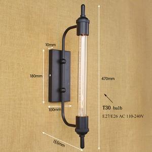 Image 2 - vintage steam pipe  retro black metal wall lamp for Bathroom Vanity Lights/porch light/night light/lighting fixture sconce bar