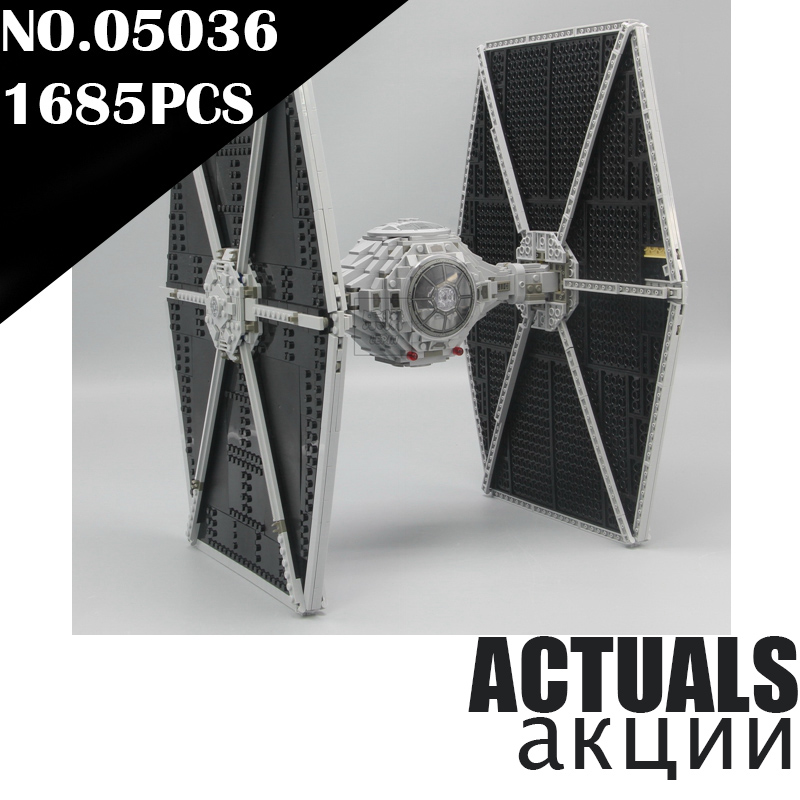 Lepin Tie Fighter 05036 1685pcs Star Series Wars Building Bricks Educational Blocks Toys for children gift Compatible with 75095 lepin 05036 1685pcs star series wars tie building fighter educational blocks bricks toys christmas gifts compatible 75095