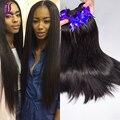 5 Bundles 8A Grade Natural Black Indian Hair Straight No Tangle And No Shedding Indian Virgin Hair Extensions 8-30 Inch