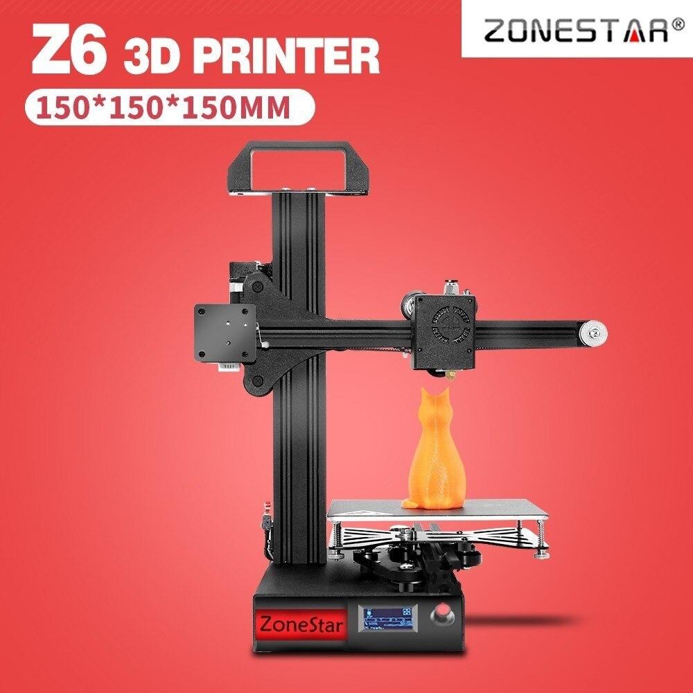 ZONESTAR Étudiant de Mini 3D Imprimante 1.75mm 0.4mm Buse Filament 3D Imprimante kit de bricolage Full Metal Cadre En Aluminium 3d imprimante