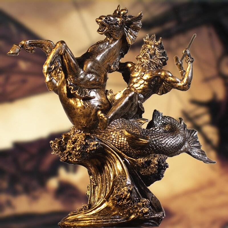 Bar rétro médiéval Rome ornements armure spartiate chevalier personnage modèle statue décoration