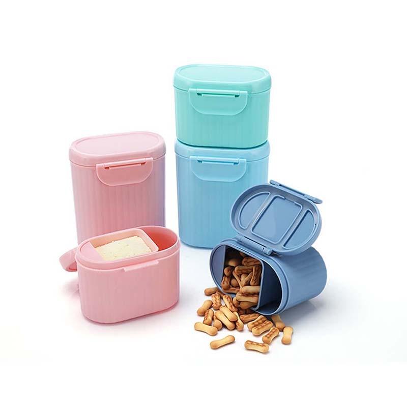 Flaschenzuführung Neue Ankunft Tragbare Baby Infant Feeding Milchpulver Flasche Container 4 Schichten Grid Box Zufällige Farbe Reise Aufbewahrungsbox Produkte Fütterung