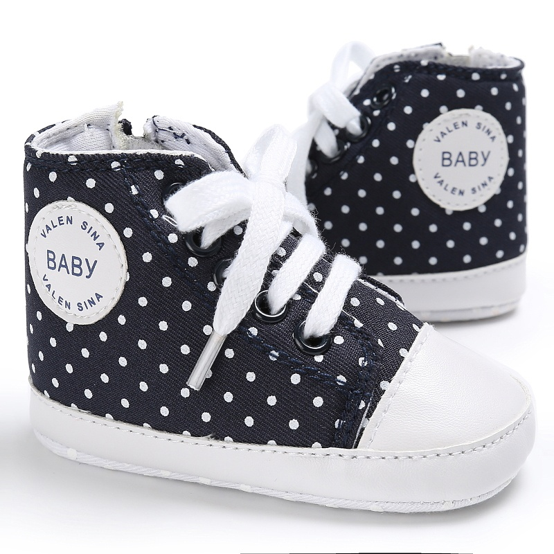 Spring Baby Girls Toddler Lovely Boy Girl Cute Fashion Canvas Lace-up Sneakers Non-slip Soft Fubu First Walkers Shoes