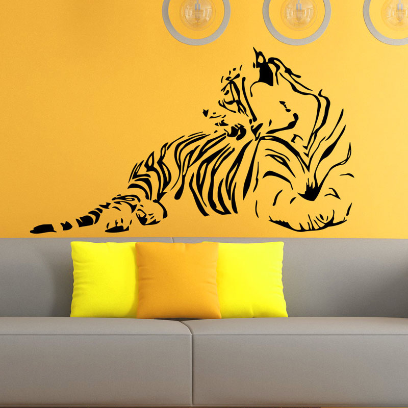 Aliexpress.com : Buy Tiger Silhouette Wall Stickers Animals Home ...