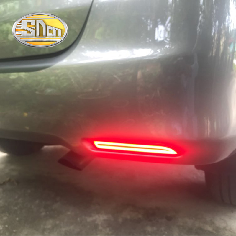 2PCS For Toyota Innova 2013 - 2015 SNCN Multi-functions Car Tail Light LED Rear Fog Lamp Bumper Light Auto Brake Light Reflector new for toyota altis corolla 2014 led rear bumper light brake light reflector novel design top quality fast shipping