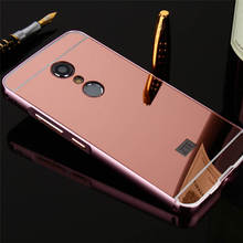 New For ZTE Axon 7 Case Luxury Protective Gold Aluminum Mirror Back Cover Phone Case For ZTE AXON 7 A2017 5.5