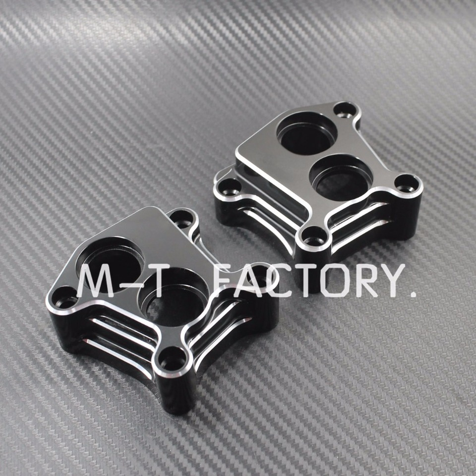 Motorcycle Black Aluminum Lifter Block Cover+Pushrod Cover For Harley 1999-2015 Twin Cam Models