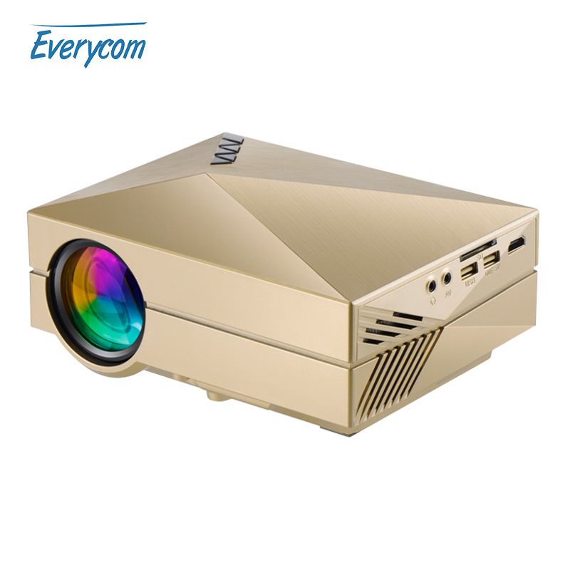 Prix pour Media player gm60 mini projecteur LCD 1000 Lumens AC3 Soutien Full HD vidéo portable LED home cinéma Pas Cher HDMI projecteur Beamer