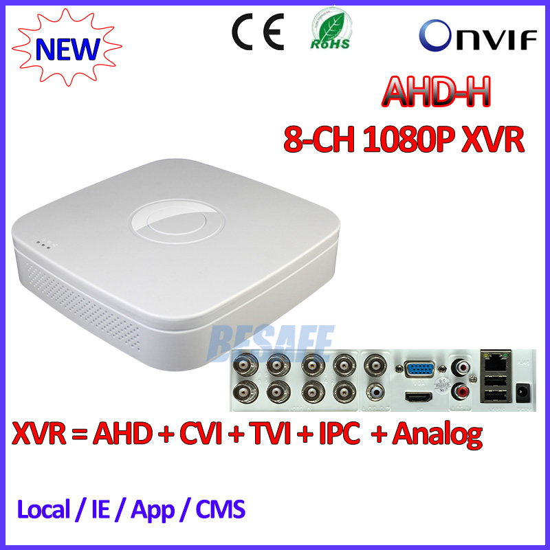 US $63 99 |8Channel DVR 1080P Hybrid AHDVR 8CH for AHD H CVI TVI camera P2P  IP recorder ONVIF Network 8CH mini NVR H 264 for 2MP IP Camera-in