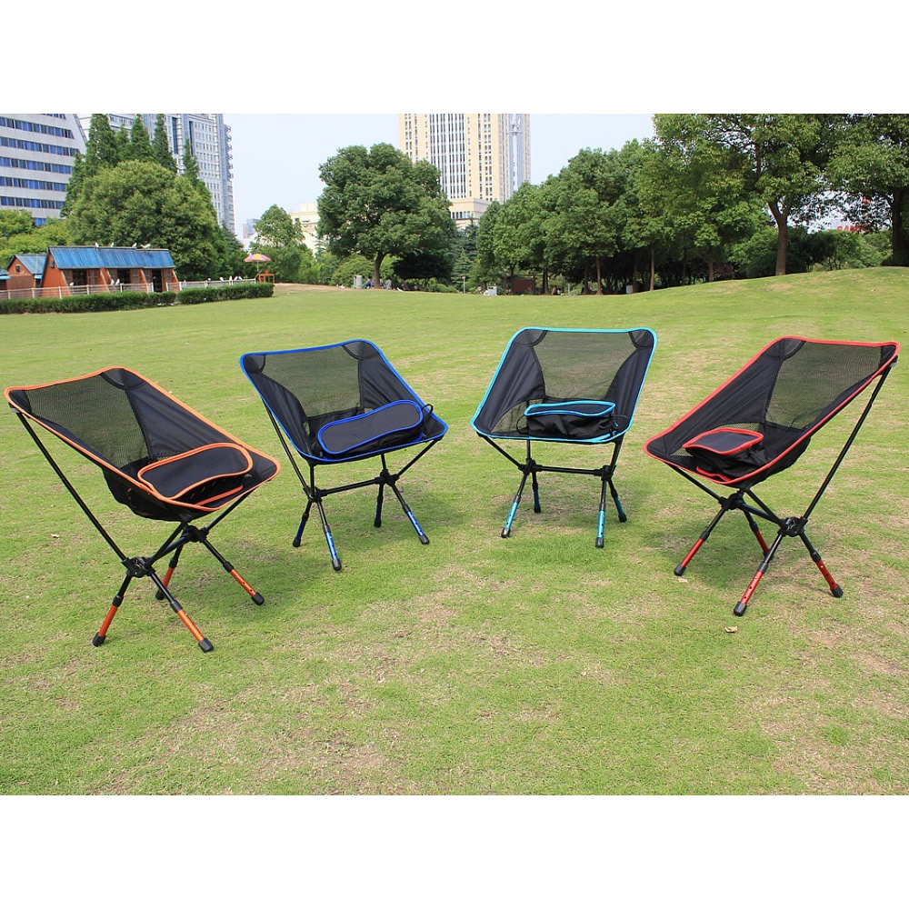Image 5 - Free Shipping car Outdoor Stack Portable Foldable Stool Fishing Thickened Beach Camping Chair LOAD 145KG-in Beach Chairs from Furniture