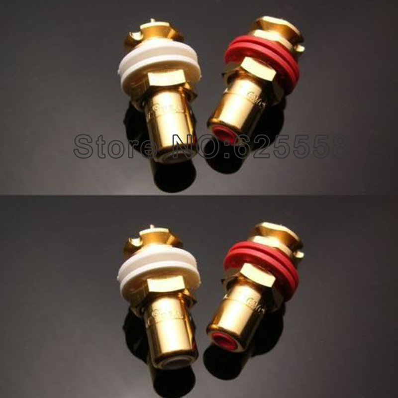 Viborg audio Gold Plated Female RCA Jack Socket Connector 8PCS gold plated socket pixhawk px4 247