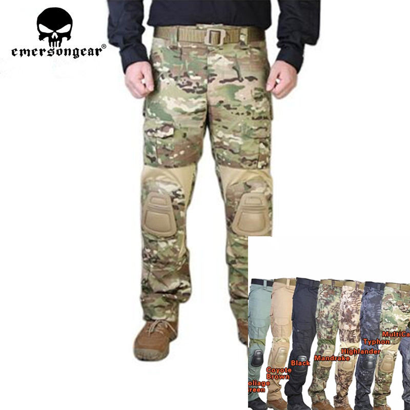 Tactical Pants with Knee Pads Emerson Gen2 Camping Hiking Hunting Trousers !*