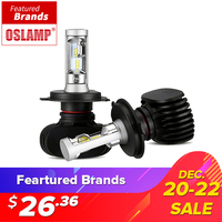 Oslamp H4 Hi Lo Beam LED Car Headlight Bulb 50W 6500K 8000lm Auto Led Headlamp CSP