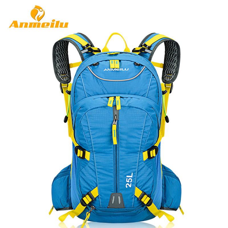 ANMEILU 25L Cycling Backpack Bags Rucksack Camelback Waterproof Outdoor Sports Mountain Road Bicycle Bike Bags + Rain Cover anmeilu 25l climbing bag sports rucksack waterproof cycling camping backpack rain cover sport travel bags 2l water bag camelback