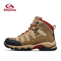 Clorts Men Outdoor Hiking Boots Suede Leather Climbing Shoes For Men Waterproof Mountain Boots Trekking Climbing