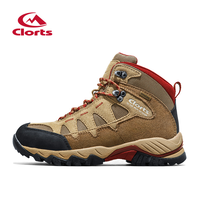 Clorts Men Outdoor Hiking Boots Suede Leather Climbing Shoes For Men Waterproof Mountain Boots Trekking Climbing Shoes HKM-823B humtto new hiking shoes men outdoor mountain climbing trekking shoes fur strong grip rubber sole male sneakers plus size