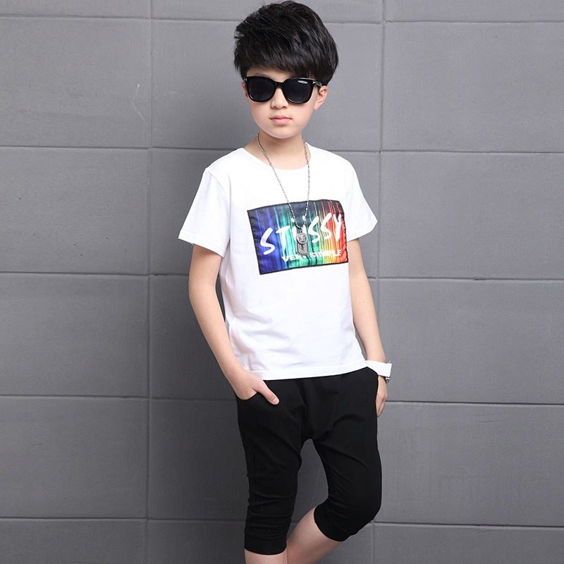 Kids Hip hop Set Baby Boys Summer Clothes Tshirt+shorts ...