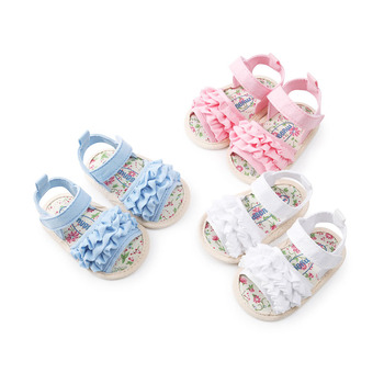 2018 Summer Baby Girls Fist Walkers Cute Floral Cotton Cloth Shoes Soft Sole Infant Baby Shoes
