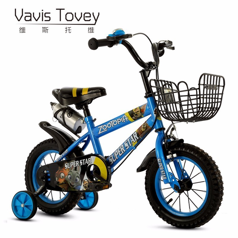 VAVISTOVEY Good Ride on bike also tricycle Cute Cartoon pattern kids cycling Light student bicycle for Boys girls
