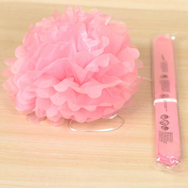 1 pompón de papel tisú de 4 pulgadas y 12cm, pompones de flores para decoración de Sala de bodas, suministros para fiestas, papel para manualidades, flores Diy
