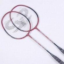 Raket Badminton Profesional JUNRUI Dengan Strings Karbon Badminton Raket Sukan Sukan Raket Overgrip LD2016