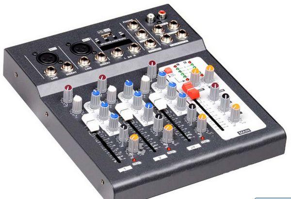 FU4S-USB 4 channel mixer sound mixing consoleFU4S-USB 4 channel mixer sound mixing console