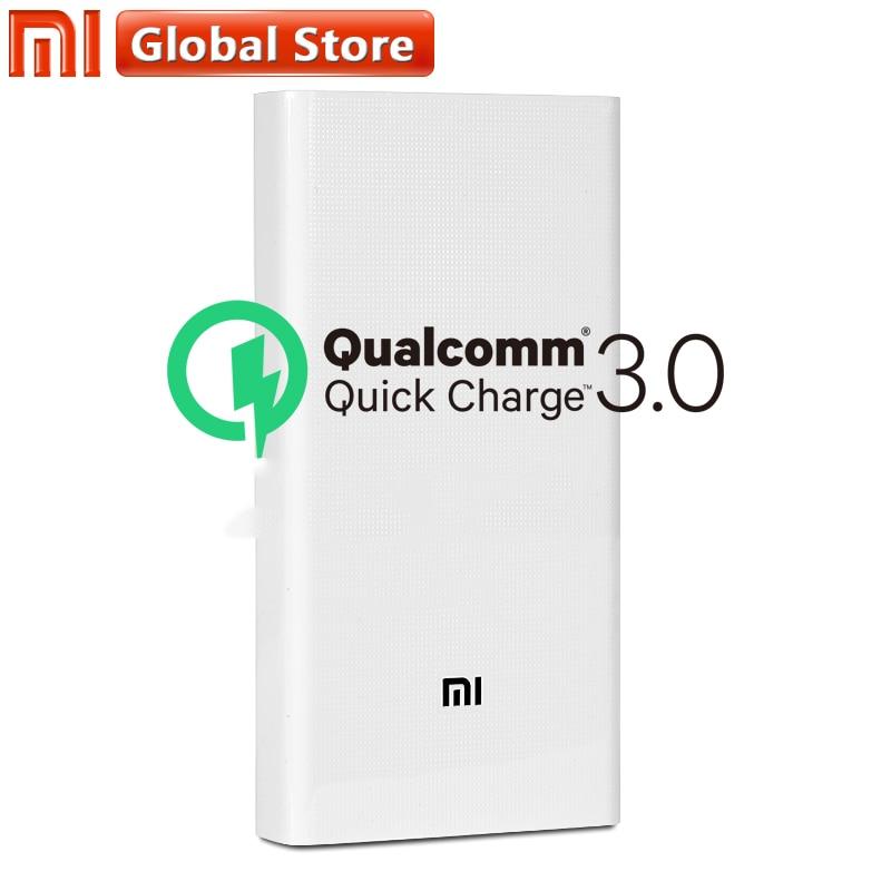 Origine Xiao mi Puissance Banque 20000 mah 2C Portable Chargeur Soutien QC3.0 Double USB mi Externe Batterie Banque 20000 pour mobile Téléphones