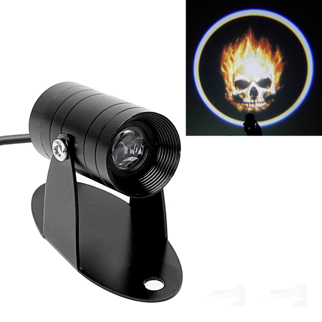 Противотуманная фара лазерный проектор логотипа 3D светодиодный логотип хвост освещение призрак наездник Пылающий Череп прожектор для мотоциклов
