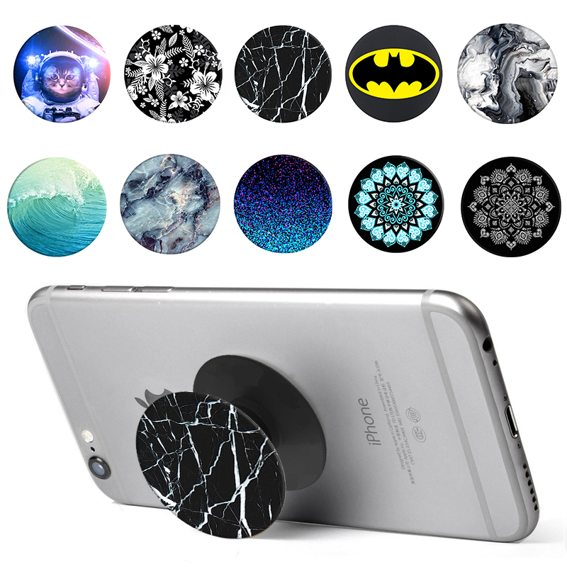 Phones Accessories Mobile Phone Cases Holder Stand for IPhone X 7 8 Plus 5s SE 6 6s Samsung S9 S8 Black Marble Back Cover coque